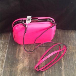 Tasha Hot Pink Patent Leather clutch
